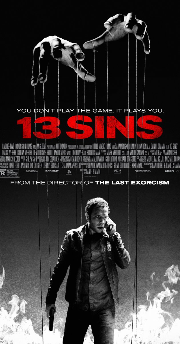 HD Quality Wallpaper | Collection: Movie, 630x1200 13 Sins