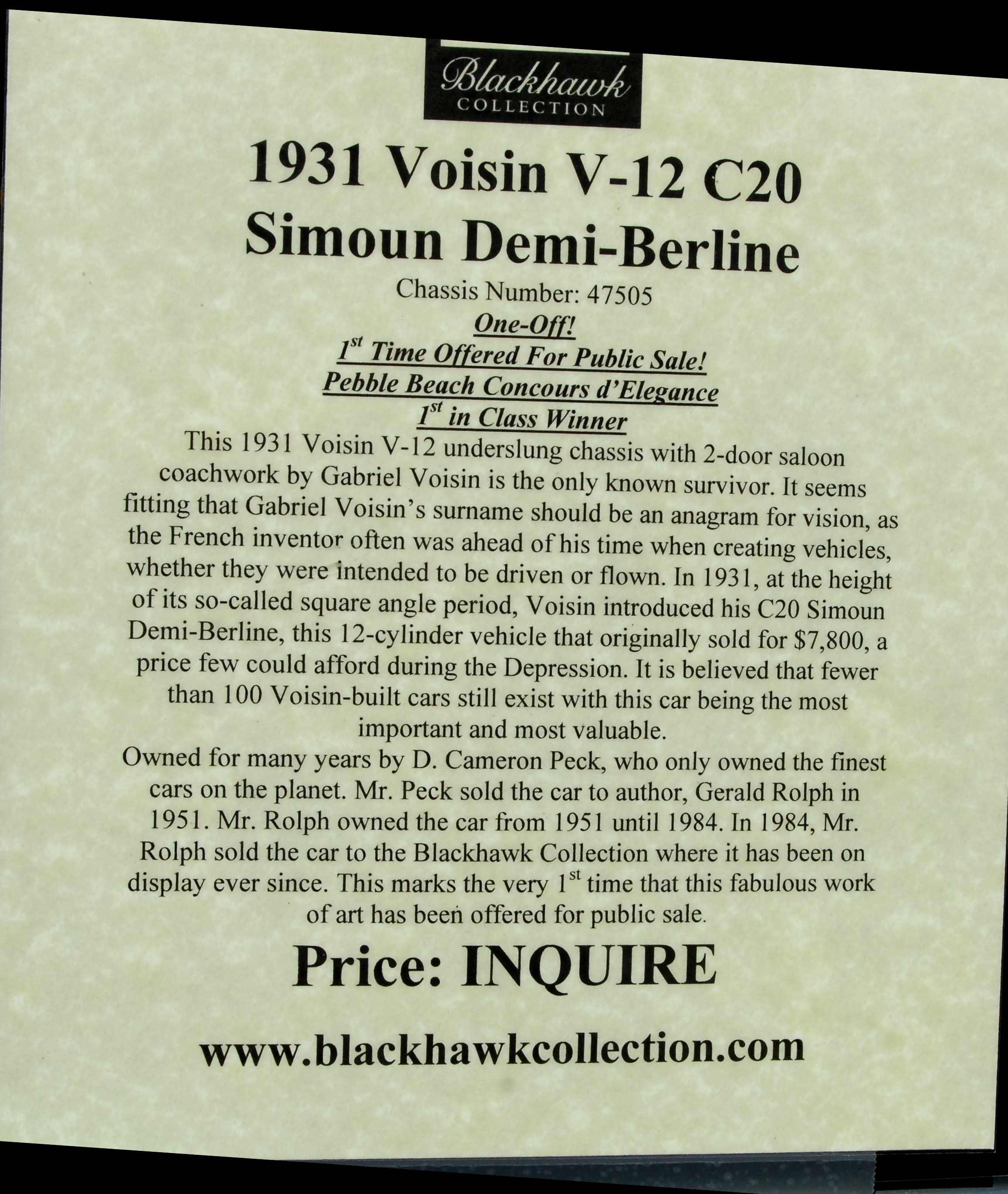 Amazing 1931 Voisin C20 Pictures & Backgrounds
