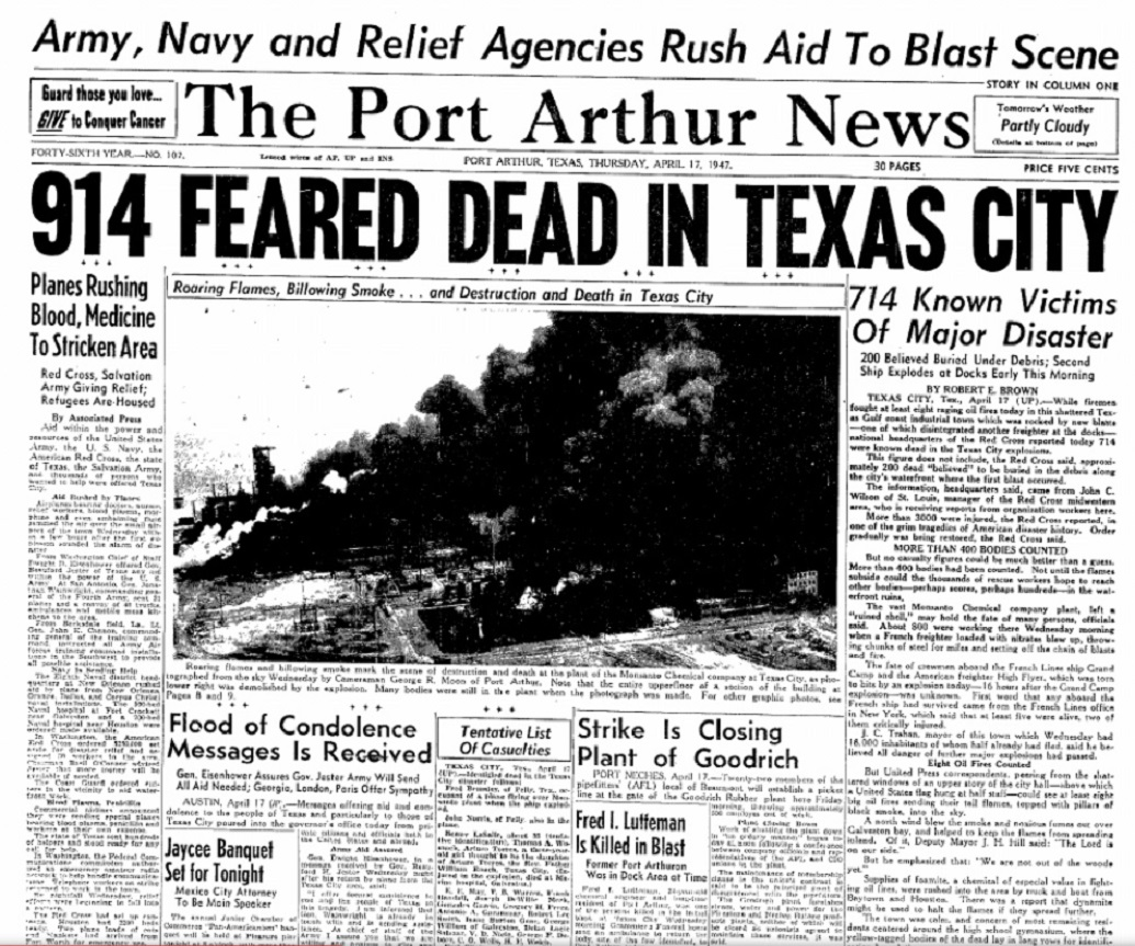 Nice Images Collection: 1947 Texas City Disaster Desktop Wallpapers