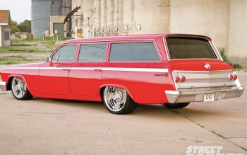 High Resolution Wallpaper | 1962 Chevrolet Four-door Wagon 350x219 px