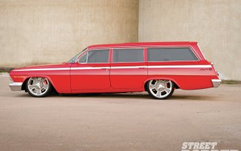 Nice Images Collection: 1962 Chevrolet Four-door Wagon Desktop Wallpapers