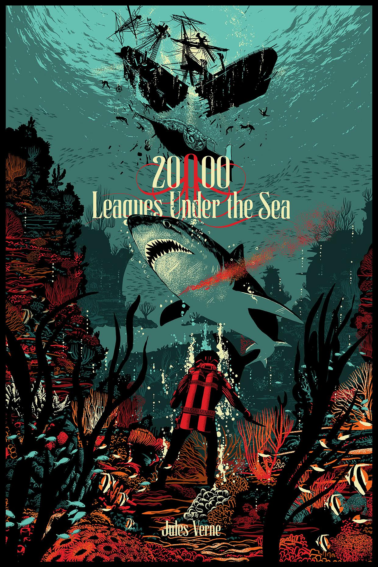 High Resolution Wallpaper | 20,000 Leagues Under The Sea 1240x1860 px