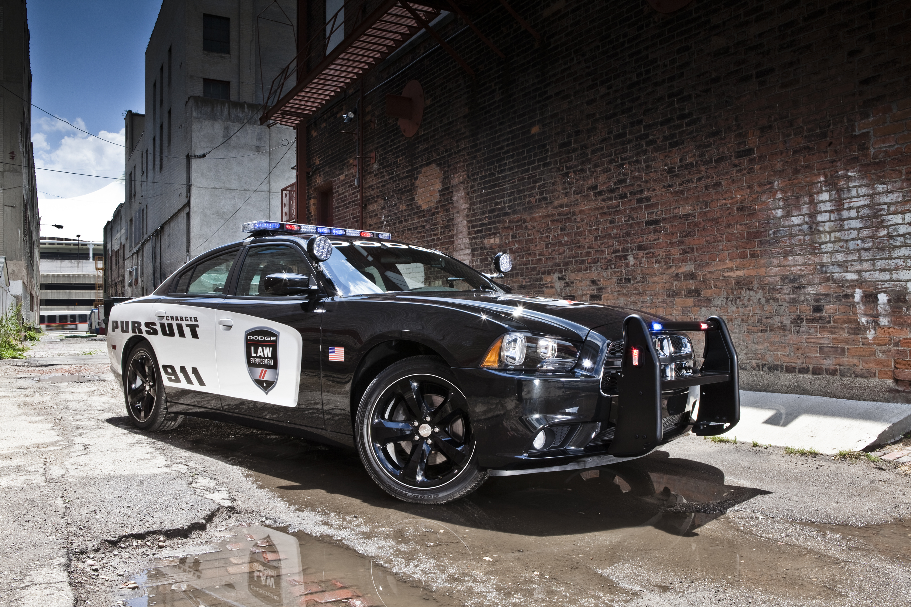 Nice wallpapers 2014 Dodge Charger Pursuit  3000x2000px