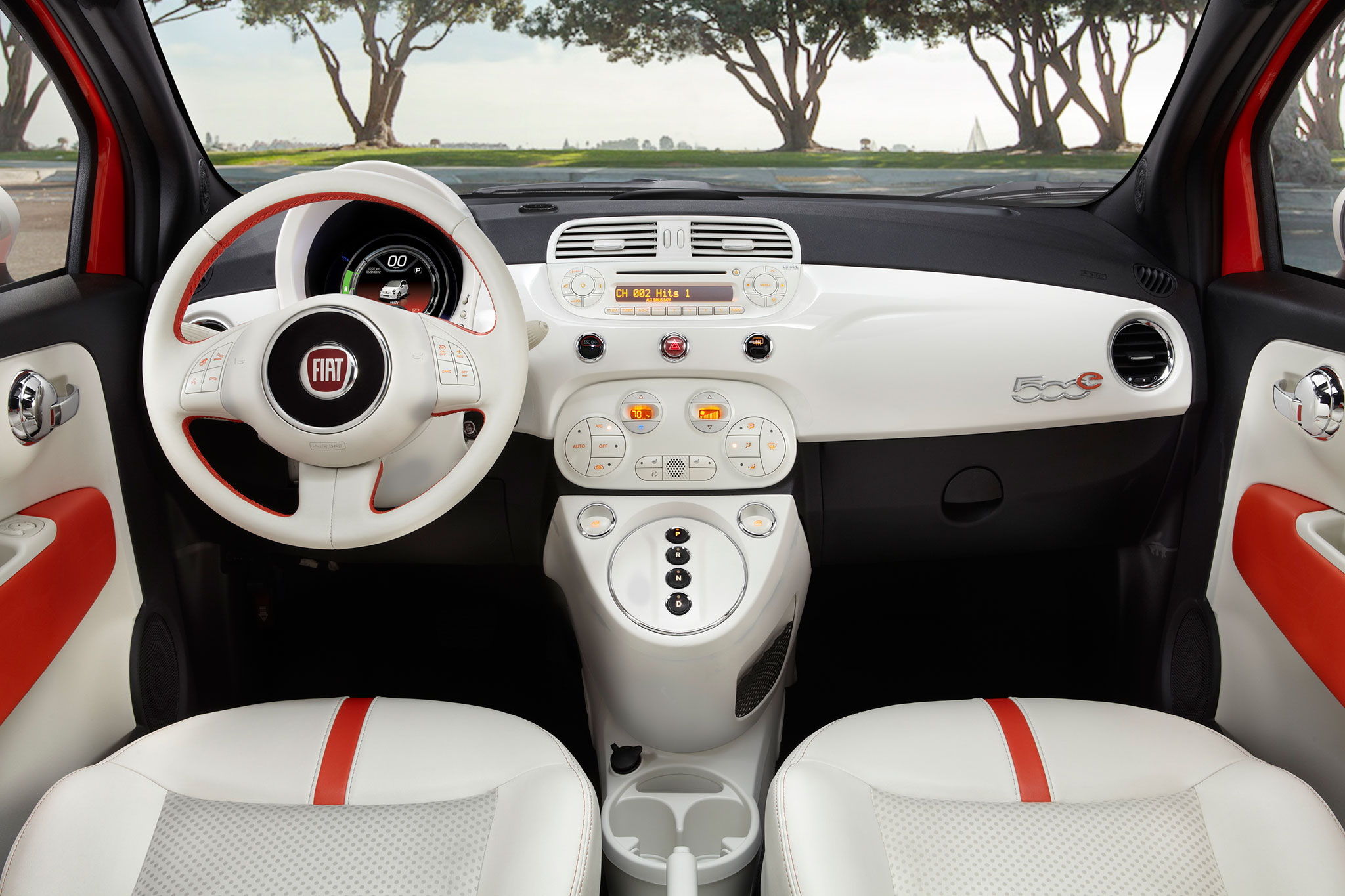 Nice Images Collection: 2014 Fiat 500e Desktop Wallpapers