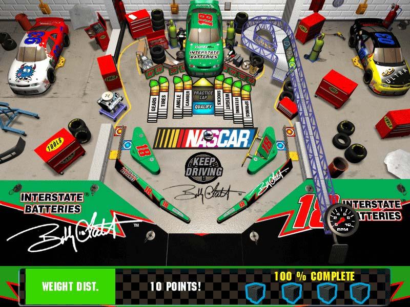 3-D Ultra NASCAR Pinball #12