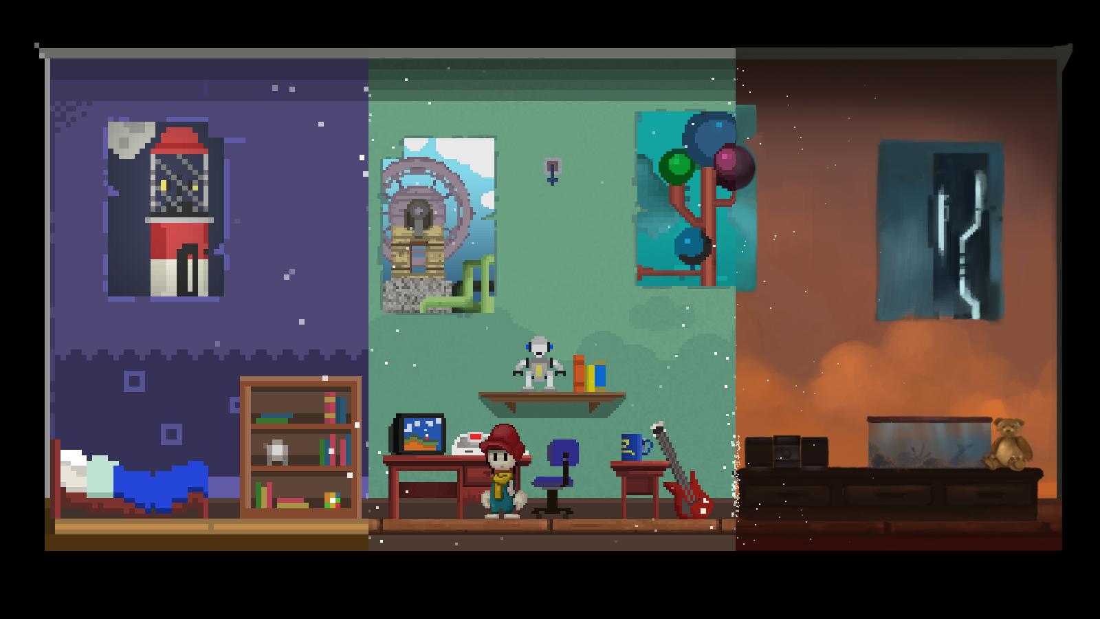 A Pixel Story Backgrounds, Compatible - PC, Mobile, Gadgets  1600x900 px