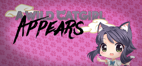 HD Quality Wallpaper   Collection: Video Game, 460x215 A Wild Catgirl Appears!