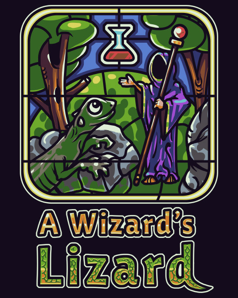 HD Quality Wallpaper   Collection: Video Game, 480x600 A Wizard's Lizard