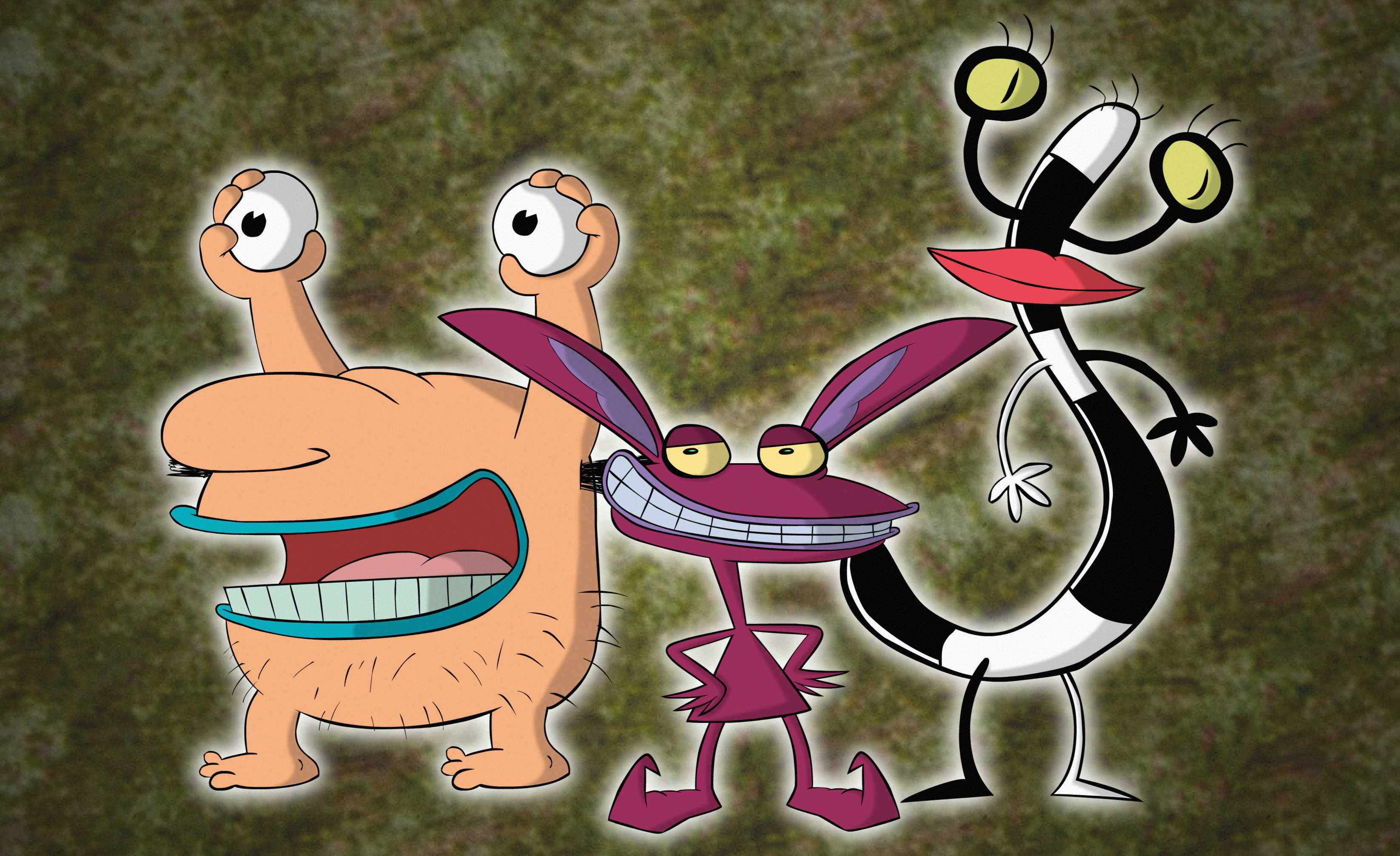 HD Quality Wallpaper | Collection: Cartoon, 3292x2014 Aaahh!!! Real Monsters
