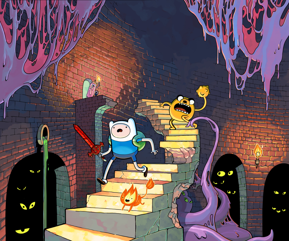 High Resolution Wallpaper | Adventure Time: Explore The Dungeon Because I Don't Know! 1008x840 px