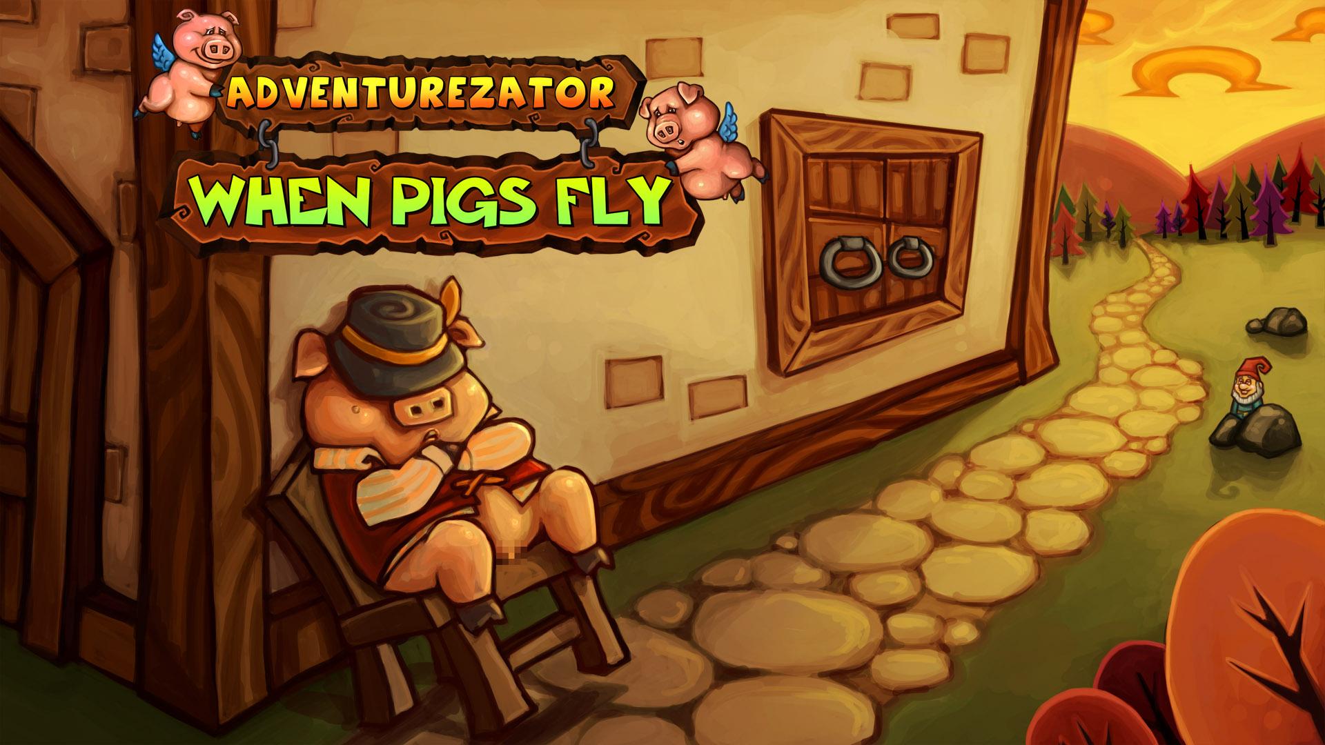Adventurezator: When Pigs Fly Backgrounds, Compatible - PC, Mobile, Gadgets| 1920x1080 px