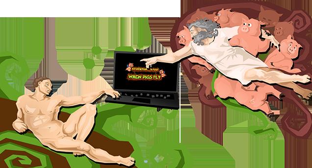 Nice Images Collection: Adventurezator: When Pigs Fly Desktop Wallpapers