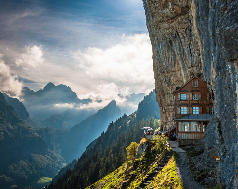 High Resolution Wallpaper | Aescher Guesthouse 1330x1059 px
