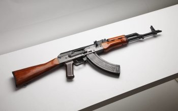 HD Quality Wallpaper | Collection: Weapons, 350x219 AK-47 Rifle