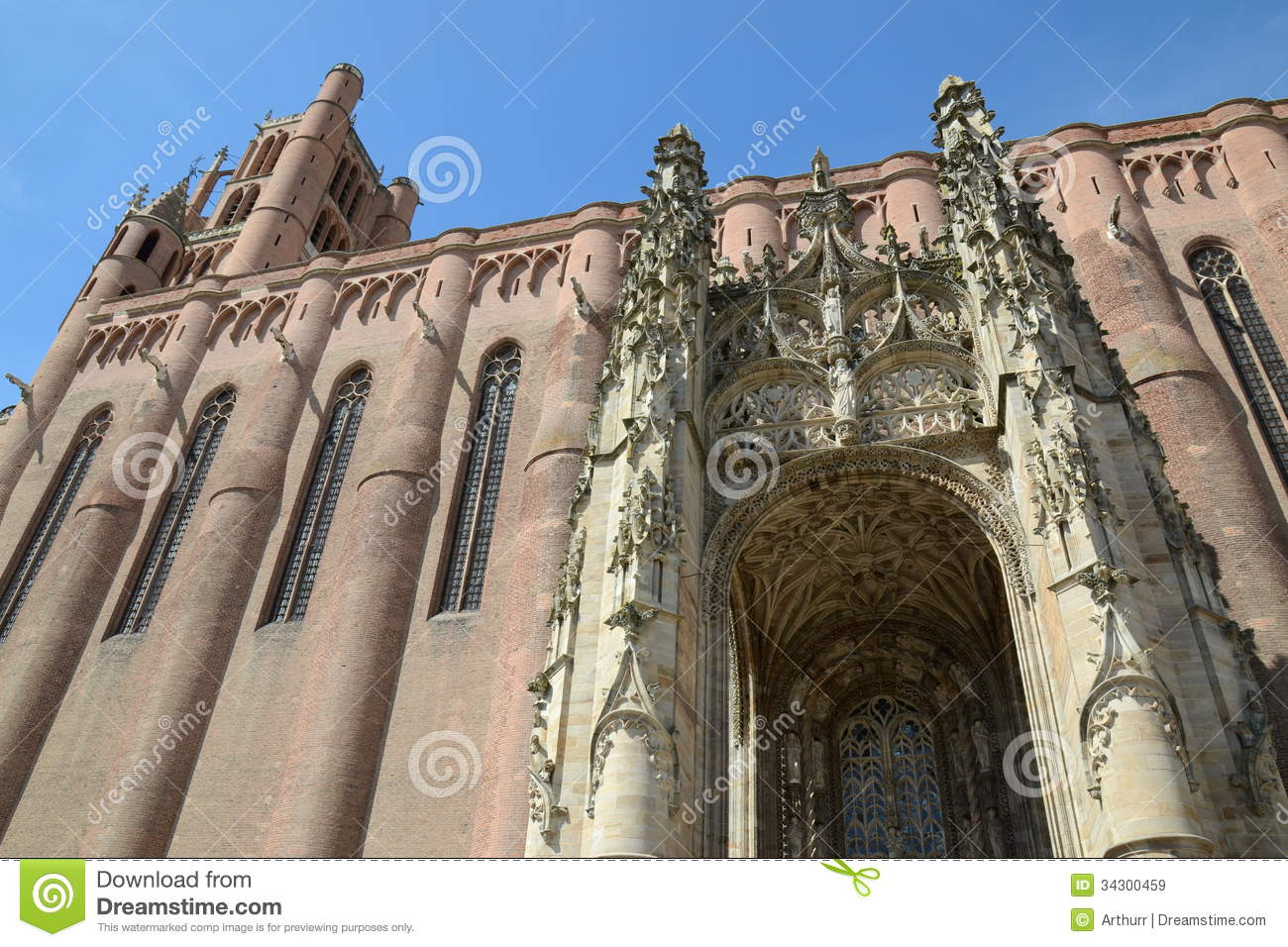 Albi Cathedral Backgrounds, Compatible - PC, Mobile, Gadgets| 1300x956 px