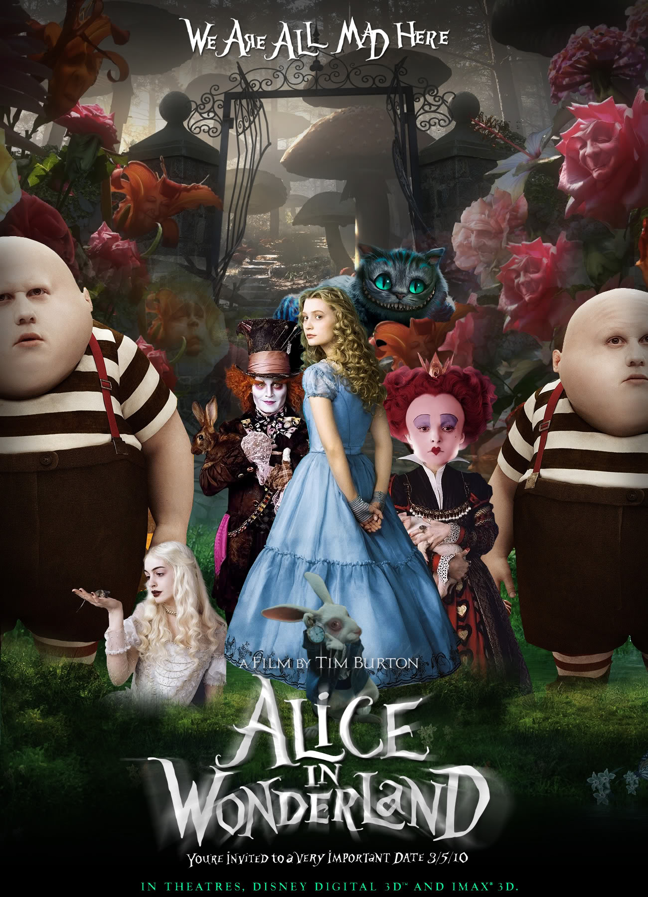 High Resolution Wallpaper | Alice In Wonderland 1300x1800 px