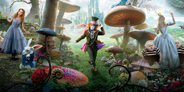 High Resolution Wallpaper | Alice In Wonderland 600x300 px