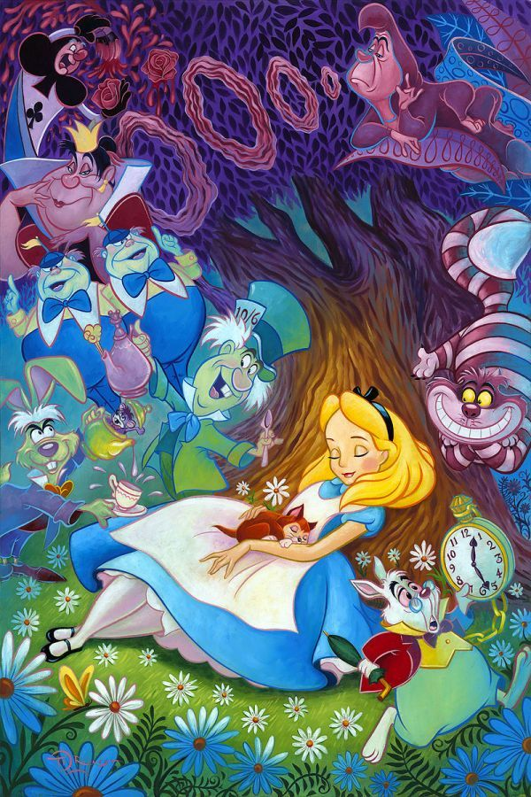Alice In Wonderland Backgrounds, Compatible - PC, Mobile, Gadgets| 600x900 px