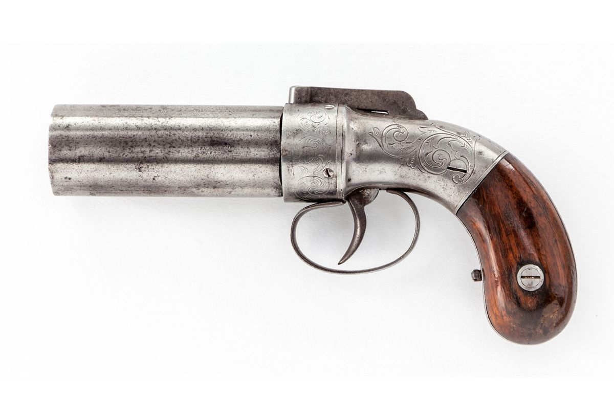 HD Quality Wallpaper | Collection: Weapons, 1200x819 Allen & Thurber Pepperbox Pistol