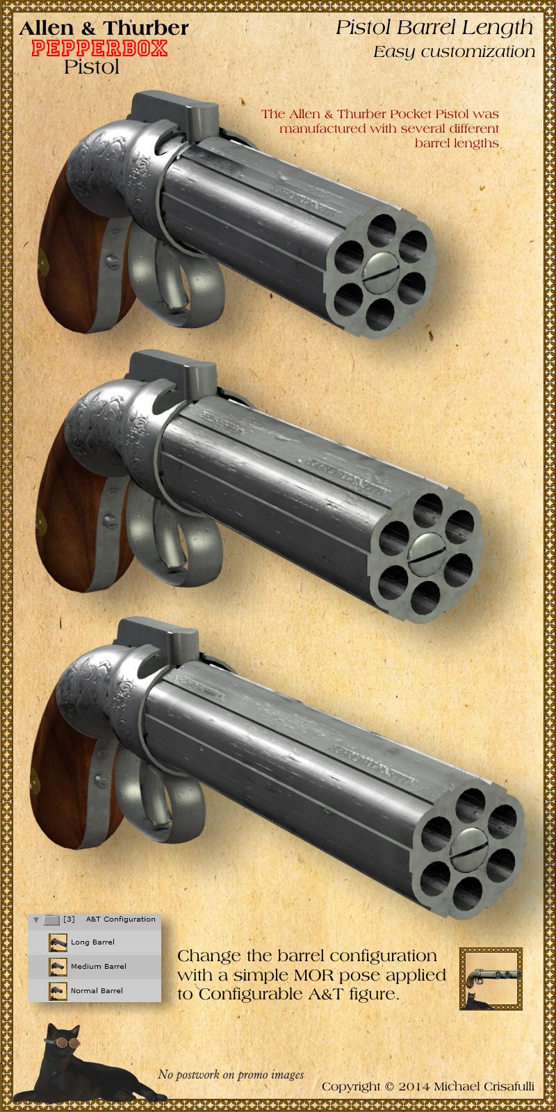 Allen & Thurber Pepperbox Pistol High Quality Background on Wallpapers Vista