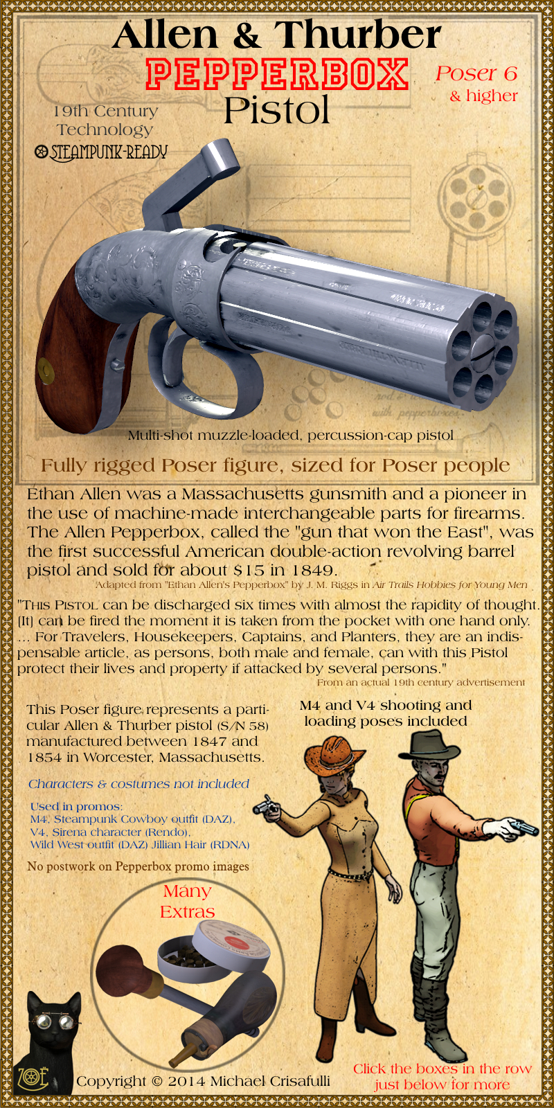 Allen & Thurber Pepperbox Pistol Pics, Weapons Collection