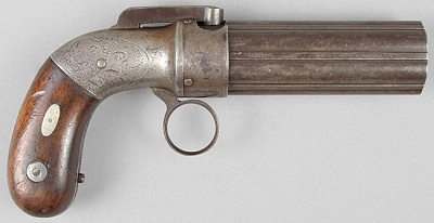 HD Quality Wallpaper | Collection: Weapons, 400x206 Allen & Thurber Pepperbox Pistol