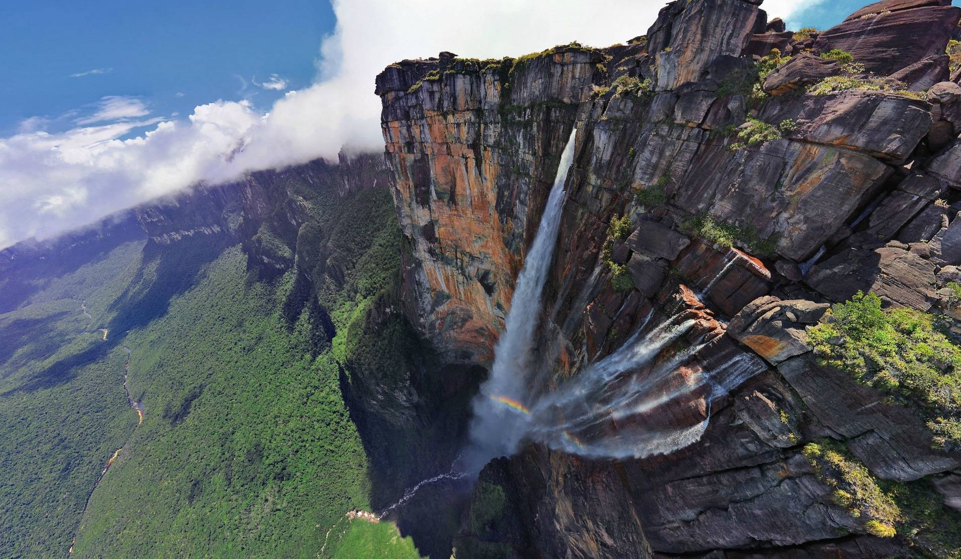 Nice wallpapers Angel Falls 1911x1112px
