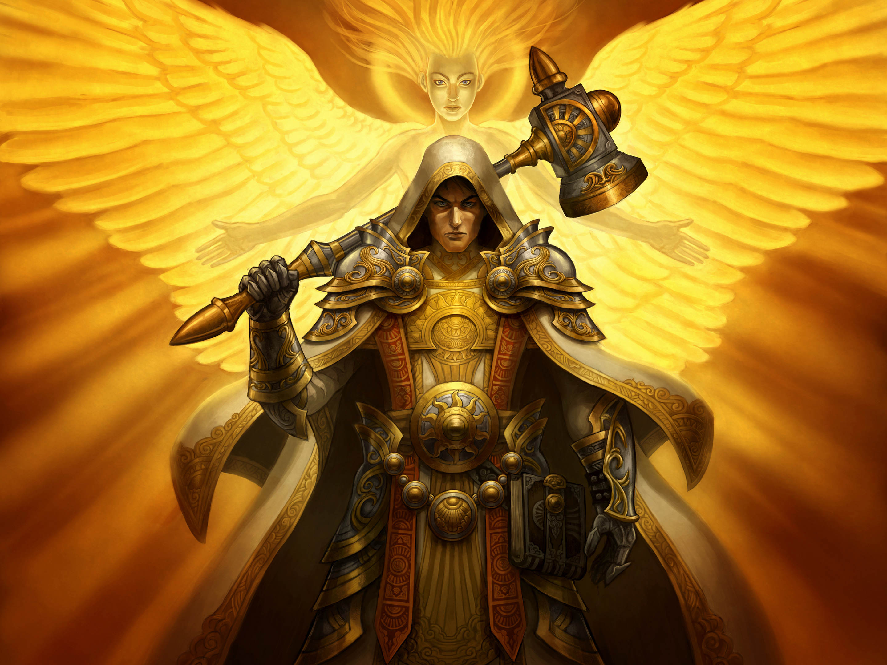 Angel Warrior Backgrounds, Compatible - PC, Mobile, Gadgets| 2880x2160 px