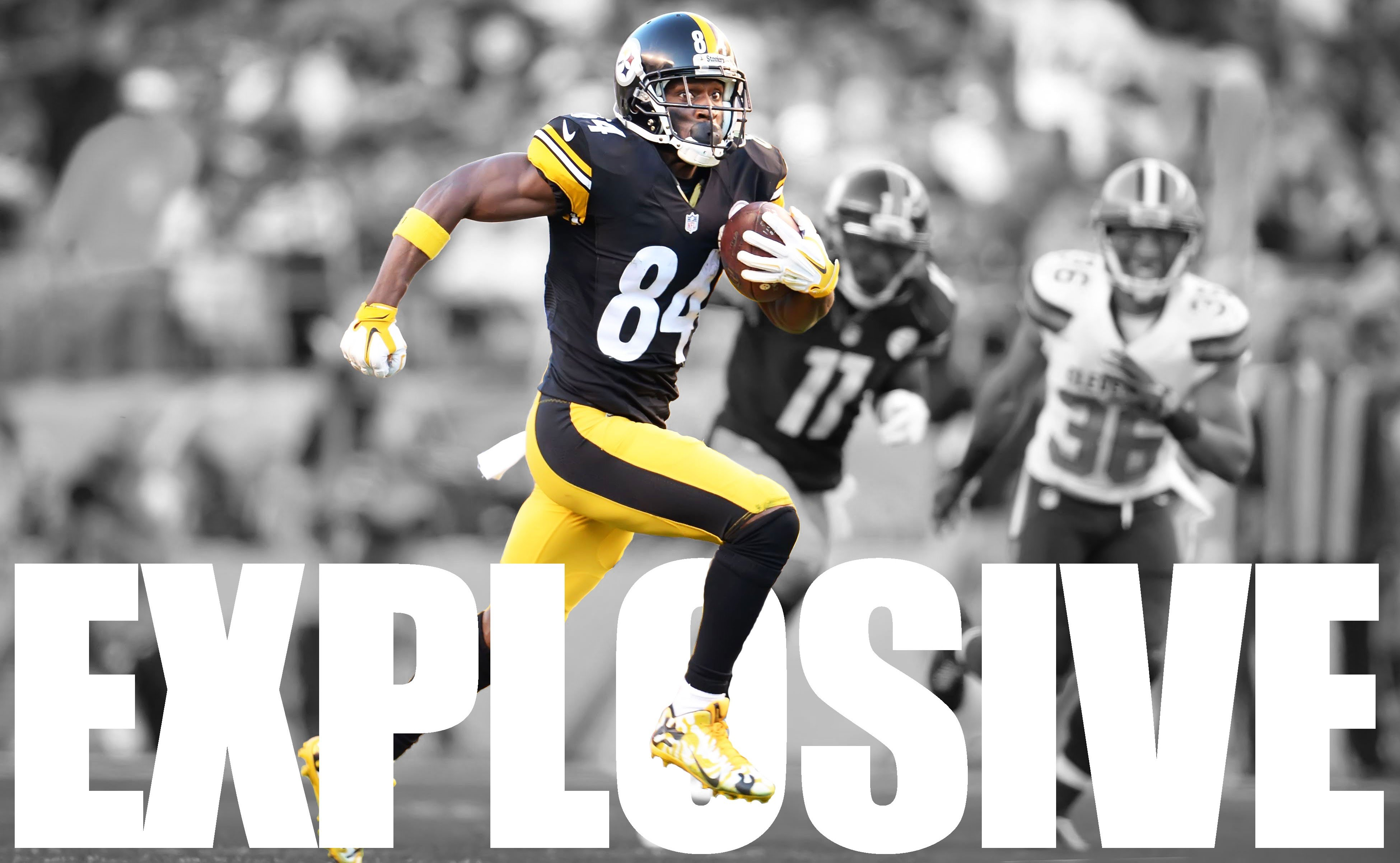 HD Quality Wallpaper | Collection: Sports, 3900x2404 Antonio Brown