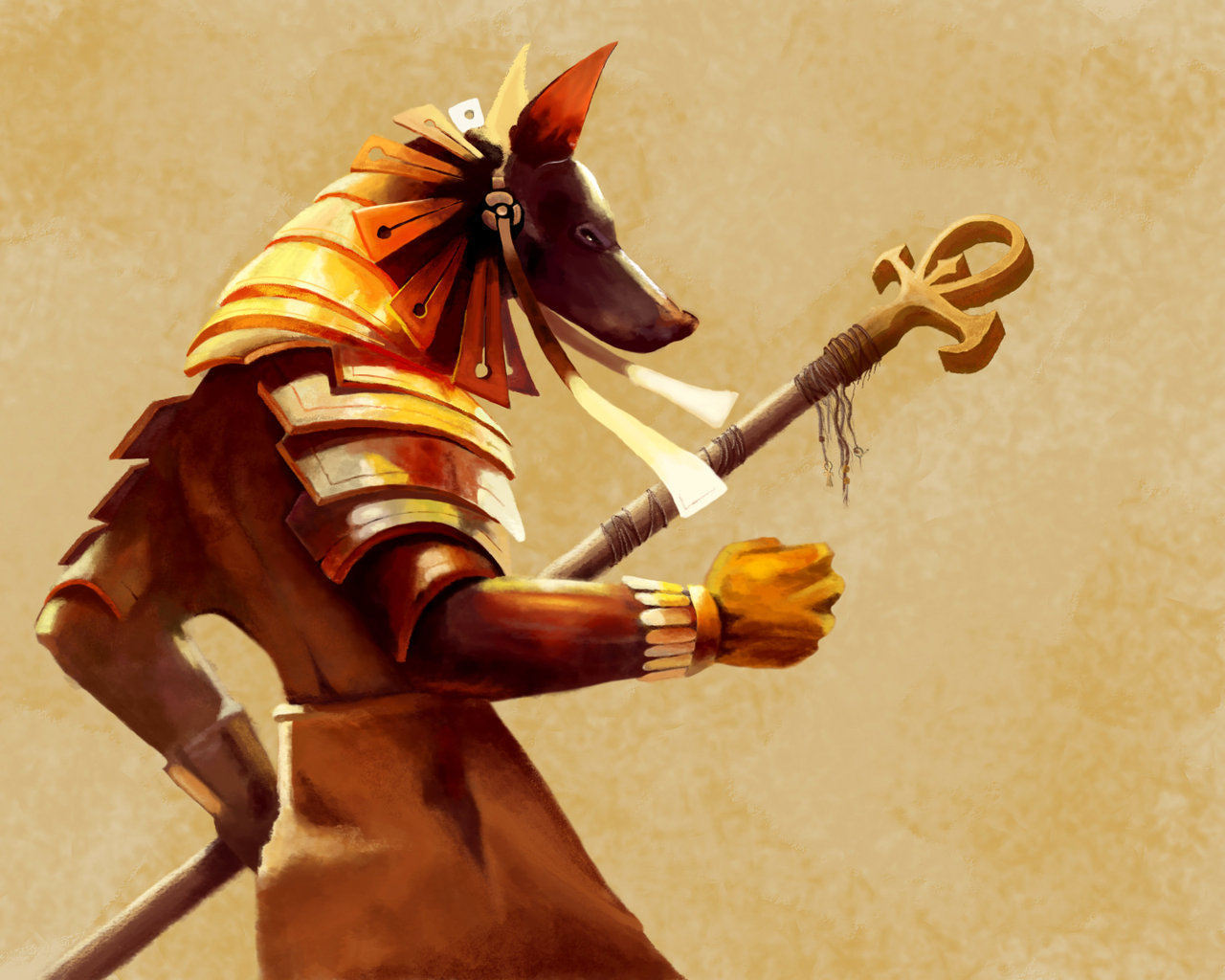 HD Quality Wallpaper | Collection: Fantasy, 1280x1024 Anubis