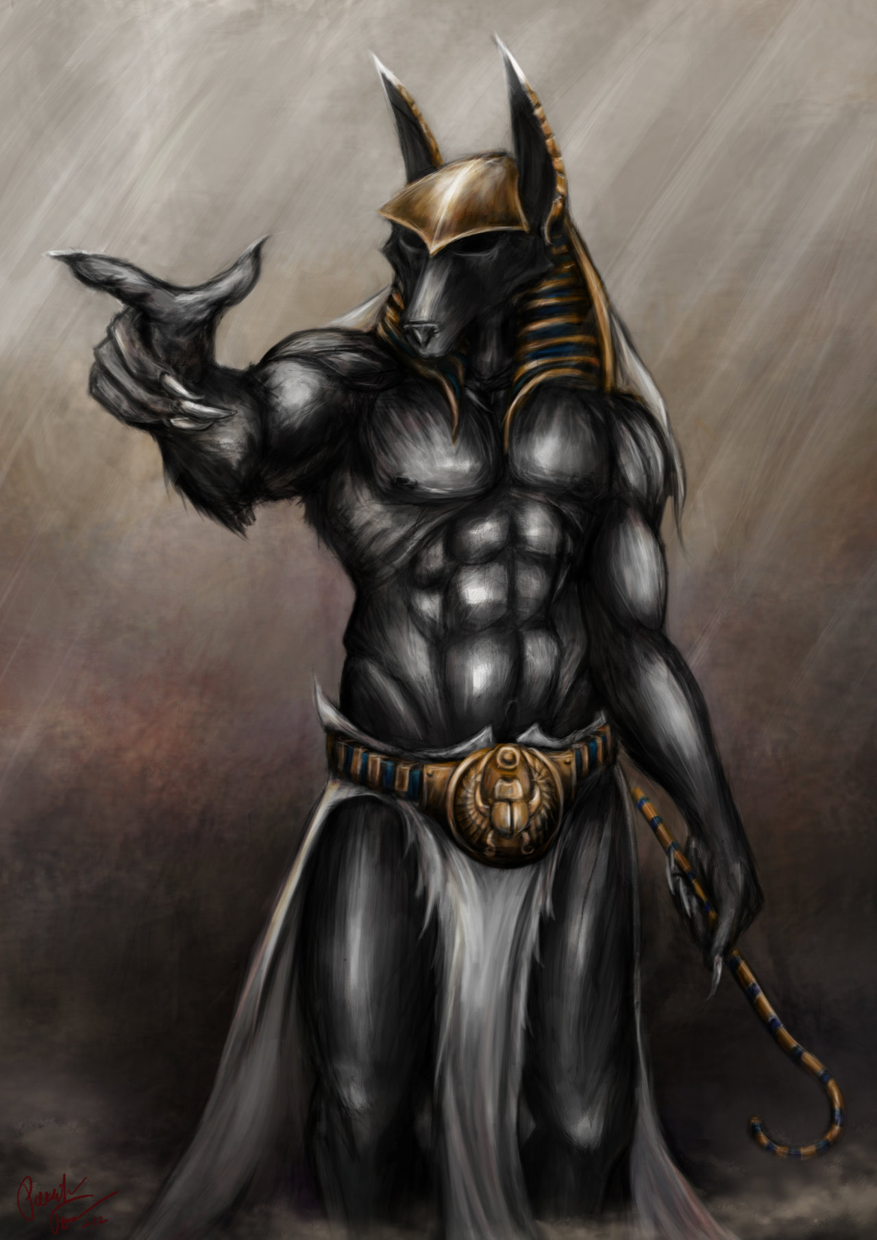 HD Quality Wallpaper | Collection: Fantasy, 1280x1810 Anubis