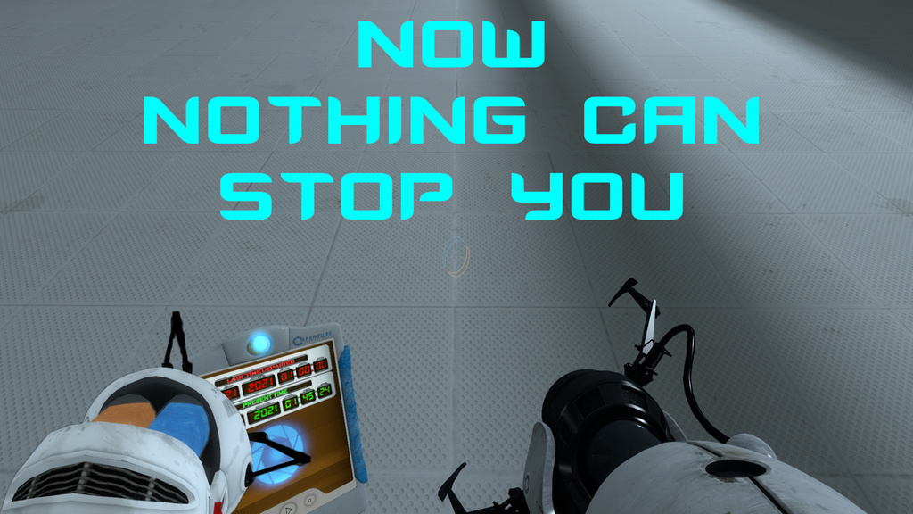 HD Quality Wallpaper   Collection: Video Game, 1024x576 Aperture Tag: The Paint Gun Testing Initiative