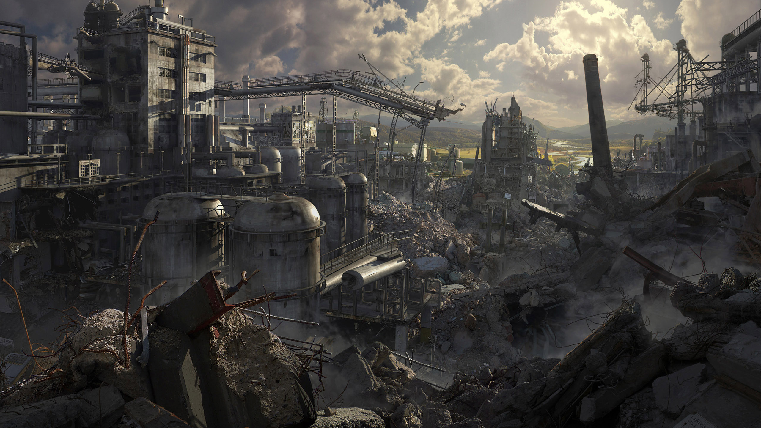 High Resolution Wallpaper | Post Apocalyptic 2560x1440 px