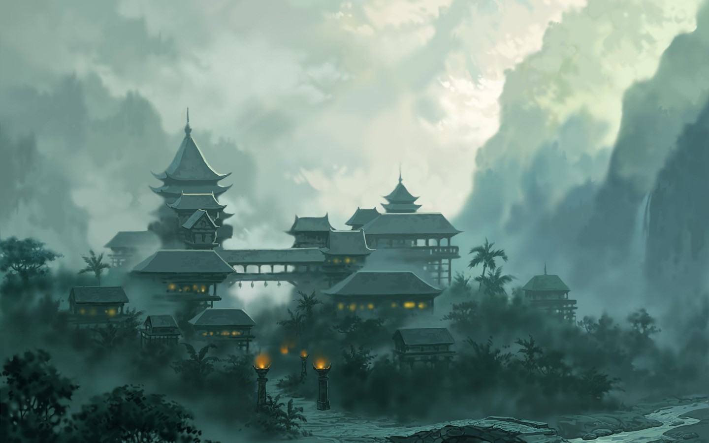Asian Architecture Backgrounds on Wallpapers Vista