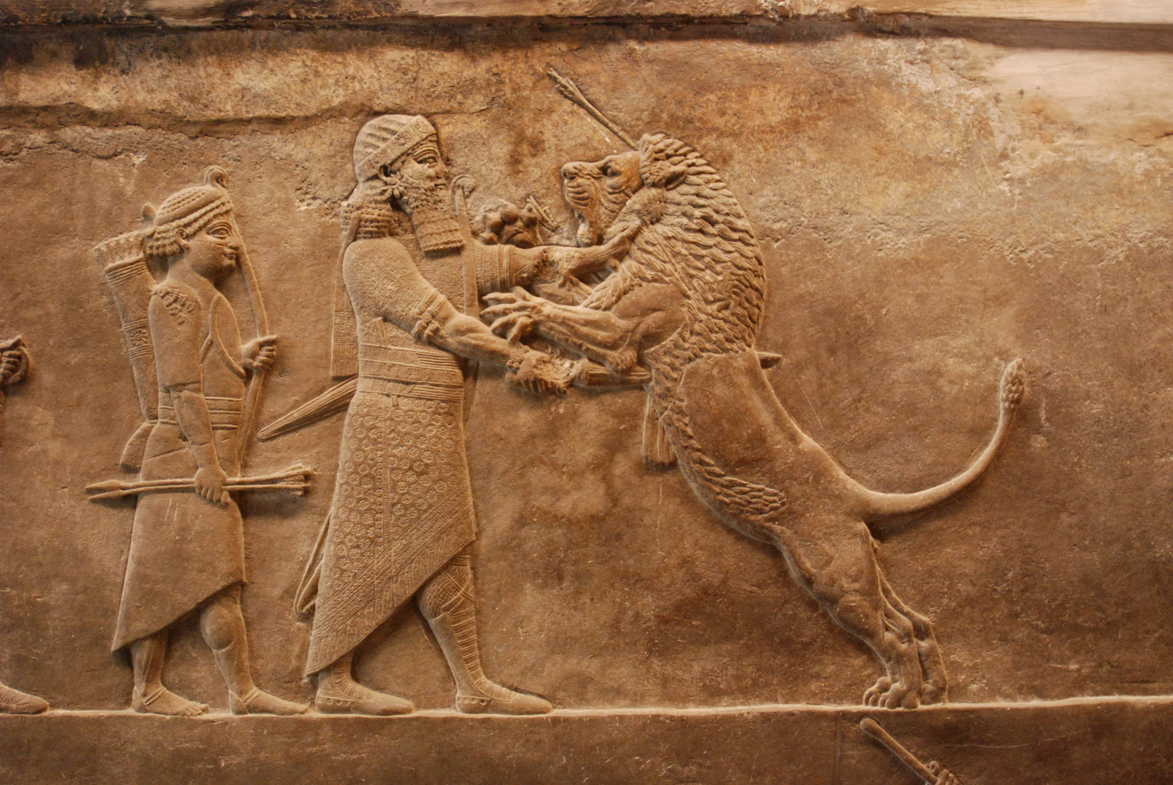 Nice wallpapers Assyria: Lion Hunts 3872x2592px