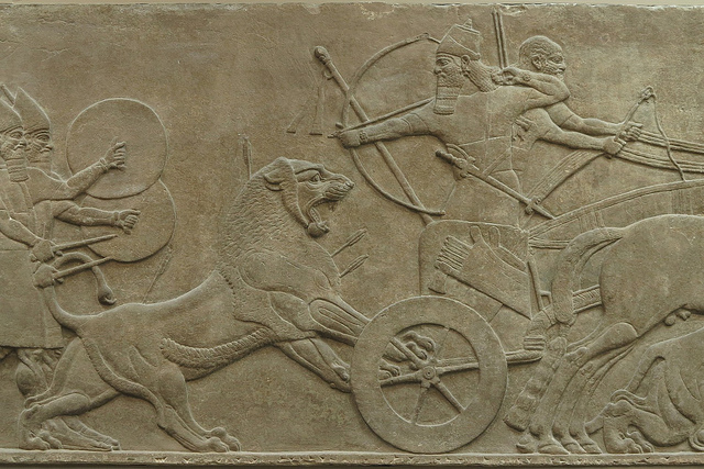 Nice Images Collection: Assyria: Lion Hunts Desktop Wallpapers
