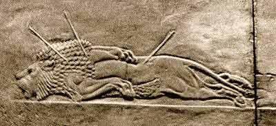 Assyria: Lion Hunts Backgrounds on Wallpapers Vista