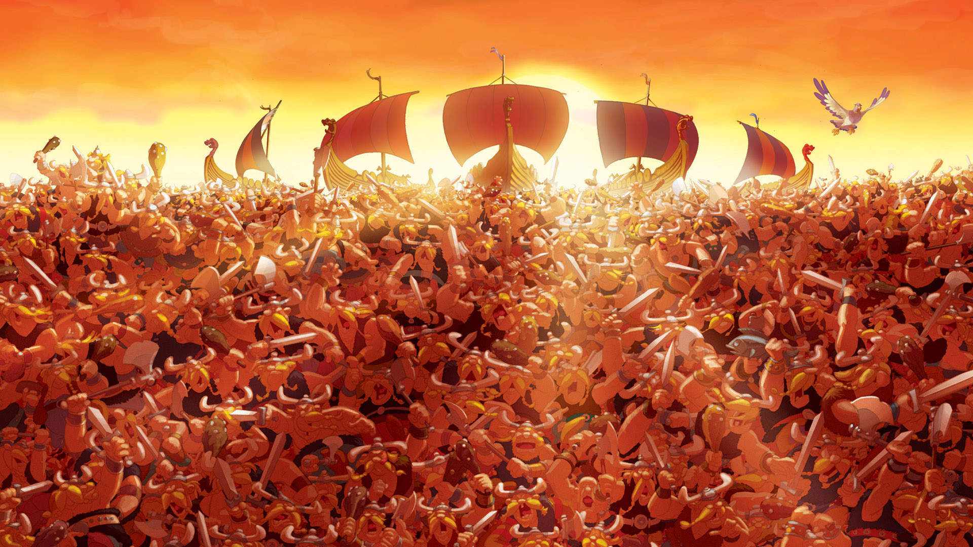 Asterix And The Vikings Backgrounds, Compatible - PC, Mobile, Gadgets| 1920x1080 px