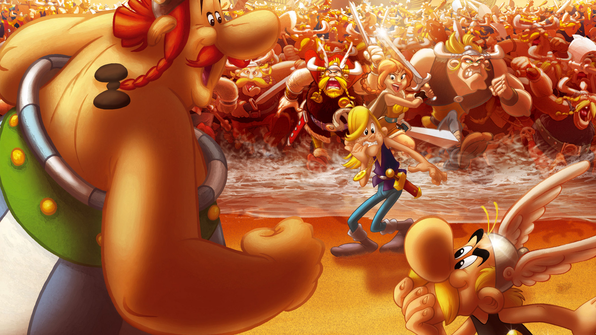 High Resolution Wallpaper | Asterix And The Vikings 1920x1080 px