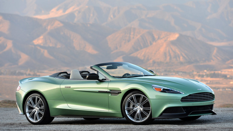 HD Quality Wallpaper | Collection: Vehicles, 750x422 Aston Martin Vanquish Volante