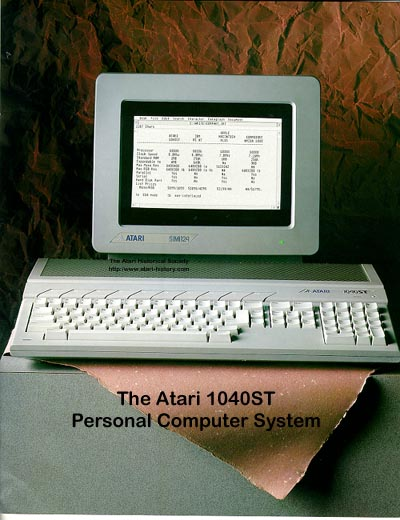 HD Quality Wallpaper | Collection: Technology, 400x520 Atari 1040ST