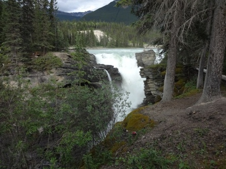 Nice Images Collection: Athabasca Falls Desktop Wallpapers