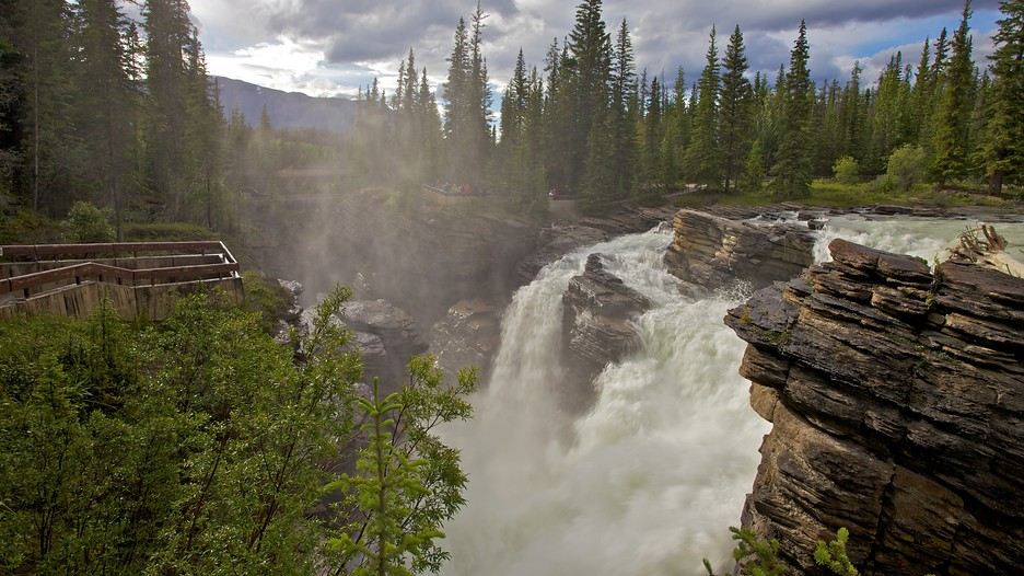 Athabasca Falls Backgrounds on Wallpapers Vista