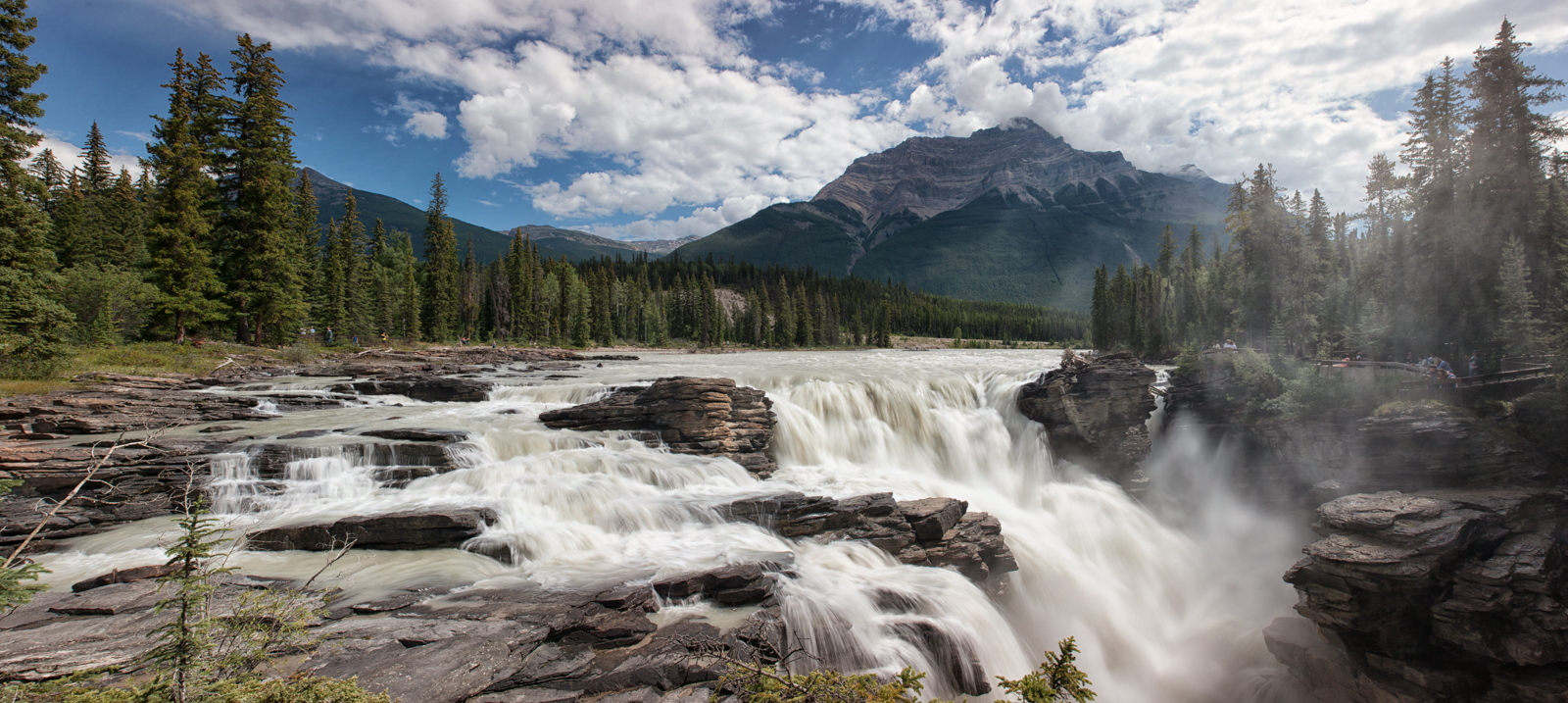 HD Quality Wallpaper   Collection: Earth, 1600x717 Athabasca Falls
