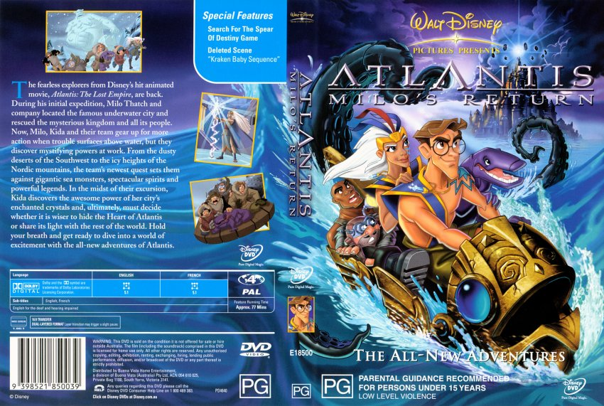 HQ Atlantis: Milo's Return Wallpapers | File 175.7Kb