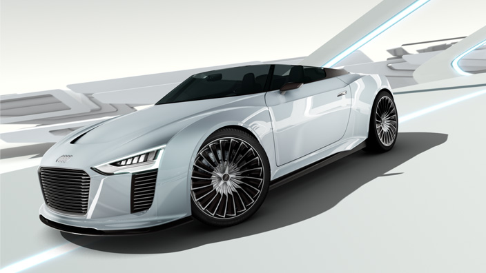 Nice Images Collection: Audi E-Tron Desktop Wallpapers