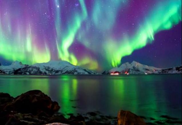 Aurora Borealis Backgrounds, Compatible - PC, Mobile, Gadgets  637x440 px