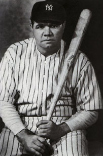 HD Quality Wallpaper | Collection: Sports, 203x308 Babe Ruth