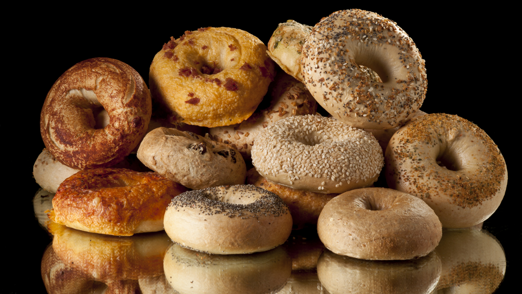 HD Quality Wallpaper | Collection: Food, 1698x955 Bagel