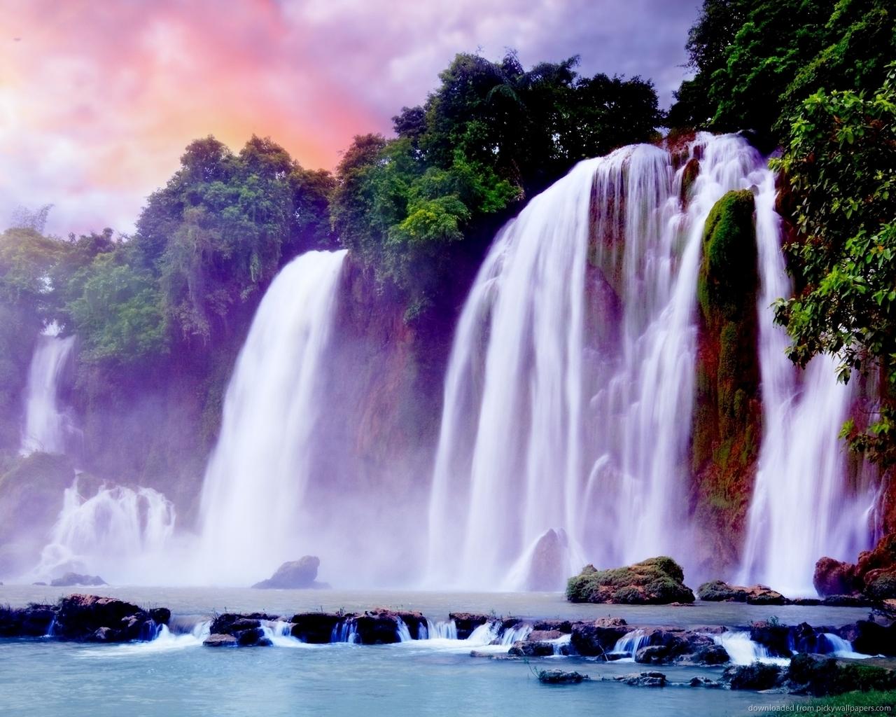 High Resolution Wallpaper | Ban Gioc–Detian Falls 1280x1024 px